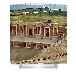 Hierapolis Theater Shower Curtain