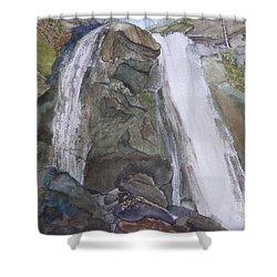 High Shoals Falls Shower Curtain