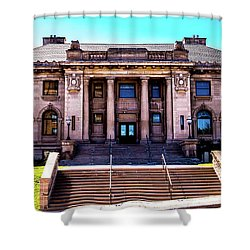 Shower Curtain featuring the photograph Historic Public Library by Onyonet  Photo Studios