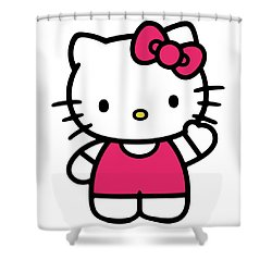 Hkitty Shower Curtain by David Lane