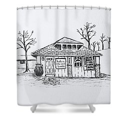 Hole In The Wall Books Shower Curtain