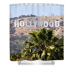 Hollywood Sign Photo Shower Curtain