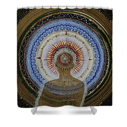 Shower Curtain featuring the painting Holy Moly #10 by Kym Nicolas