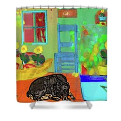 Home Sweet Home Painting 5 Shower Curtain