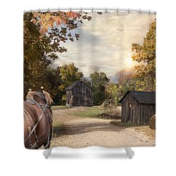 Shower Curtain featuring the photograph Homeward Bound by Robin-Lee Vieira