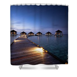 Shower Curtain featuring the photograph Honeymooners Paradise by Hannes Cmarits