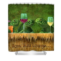 Honu Hula Lounge... Shower Curtain by Will Bullas