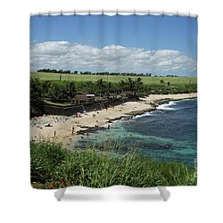 Ho'okipa Beach View From Ho'okipa Beach Park Hana Maui Shower Curtain