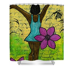 Hooray Shower Curtain by Angela L Walker