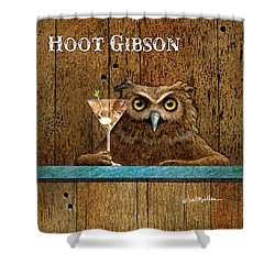 Hoot Gibson... Shower Curtain by Will Bullas