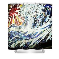 #hosukai #tsunami #jdm #risingsun Shower Curtain