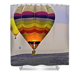 Hot-air Balloning Shower Curtain by Heiko Koehrer-Wagner