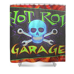 Hot Rod Garage Shower Curtain by Alan Johnson
