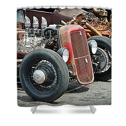 Hot Rods Shower Curtain by Steve McKinzie