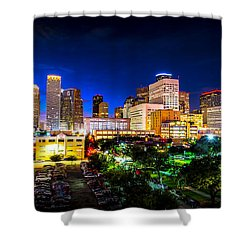 Shower Curtain featuring the photograph Houston City Lights by David Morefield