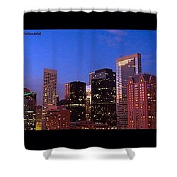 #houston #skyline At Dusk. #night Shower Curtain