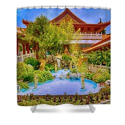 Hsi Lai Temple Shower Curtain
