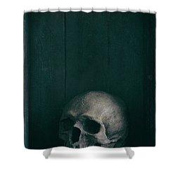 Human Skull Shower Curtain