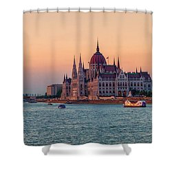 Hungarian Parliament Building In Budapest, Hungary Shower Curtain