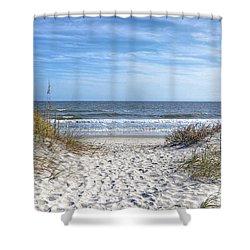 Huntington Beach South Carolina Shower Curtain