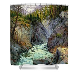 Hurricane River Shower Curtain