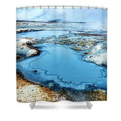 Hverir Steam Vents In Iceland Shower Curtain