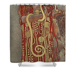 Shower Curtain featuring the painting Hygieia by Gustav Klimt