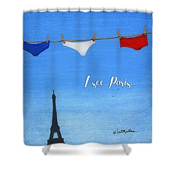 I See Paris... Shower Curtain by Will Bullas