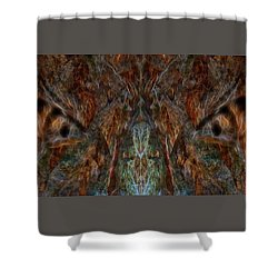 I See You Shower Curtain by Louis Ferreira