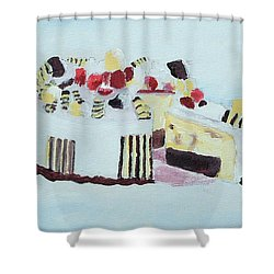 Ice Cream Cake Oil On Canvas Shower Curtain