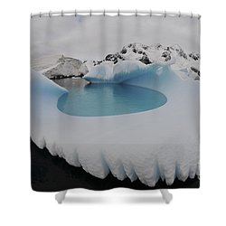 Iceberg swimming pool antarctica photograph by mathieu meur Swimming pool shower curtain
