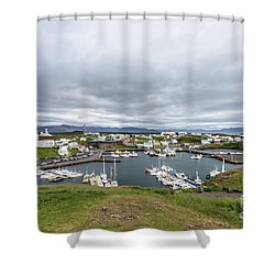 Iceland Fisherman Harbor Shower Curtain