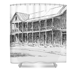Idaho Hotel Silver City Ghost Town Idaho Shower Curtain by Kevin Heaney