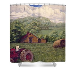 Idle In Godfrey Georgia Shower Curtain by Peter Muzyka