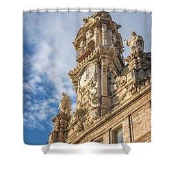 Shower Curtain featuring the photograph Iglesia De Los Santos Juanes Valencia Spain by Joan Carroll