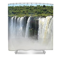 Shower Curtain featuring the photograph Iguazu Falls by Silvia Bruno