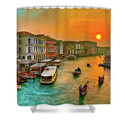 Imbarcando. Venezia Shower Curtain