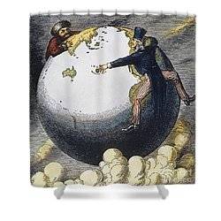 Imperialism Cartoon, 1876 Shower Curtain by Granger