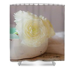 Shower Curtain featuring the photograph In A White Bowl by Kim Hojnacki