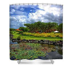 In Bali Shower Curtain by Charuhas Images