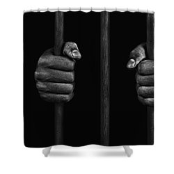 Shower Curtain featuring the photograph In Prison by Chevy Fleet