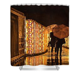 In The Kimono Forest Shower Curtain