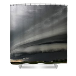 Intense Shelf Cloud Shower Curtain
