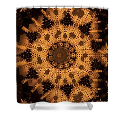 Shower Curtain featuring the digital art Interaction by Ron Bissett