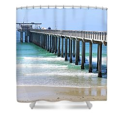 Into The Ocean Shower Curtain
