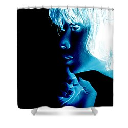 Inverted Realities - Blue  Shower Curtain