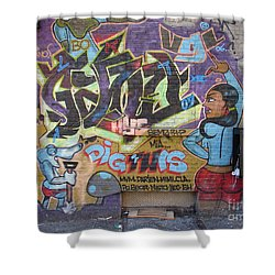 Inwood Graffiti  Shower Curtain by Cole Thompson