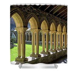 Iona Abbey Scotland Shower Curtain by Jacqi Elmslie