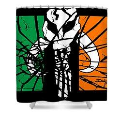 Irish Mandalorian Flag Shower Curtain