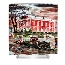 Iron County Courthouse II Shower Curtain by Kip DeVore